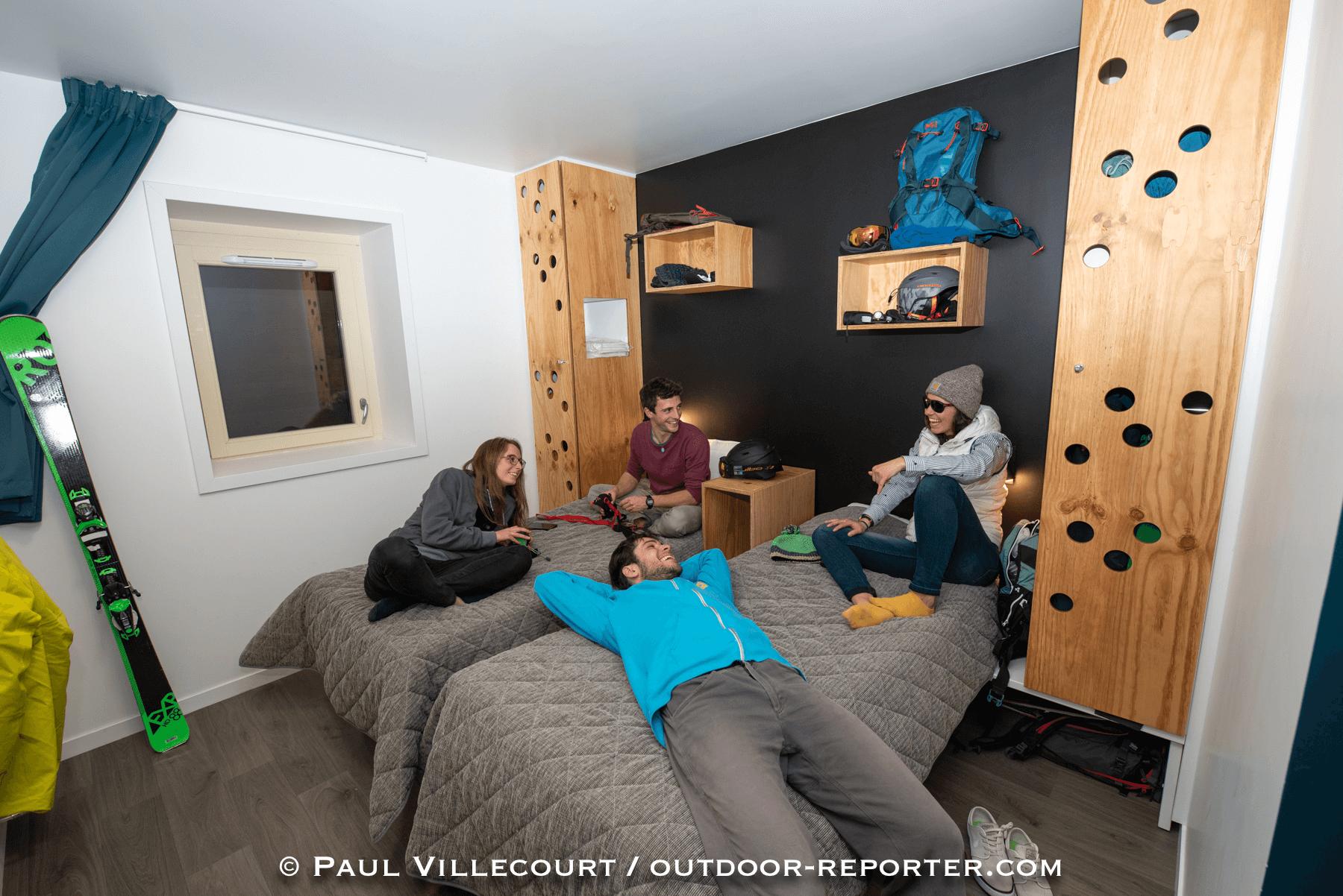 Une chambre du centre UCPA de Valloire Galibier