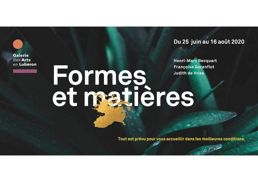 Exposition Formes et Matières