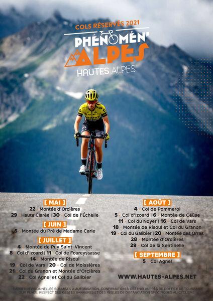 Affiche Cols Réservés - Hautes-Alpes