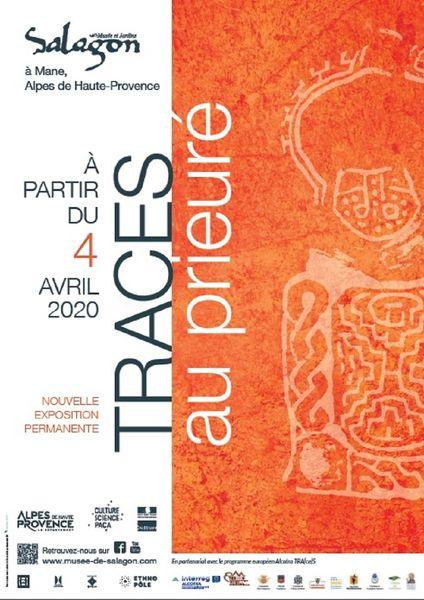 Affiche TRACES au prieuré de Salagon