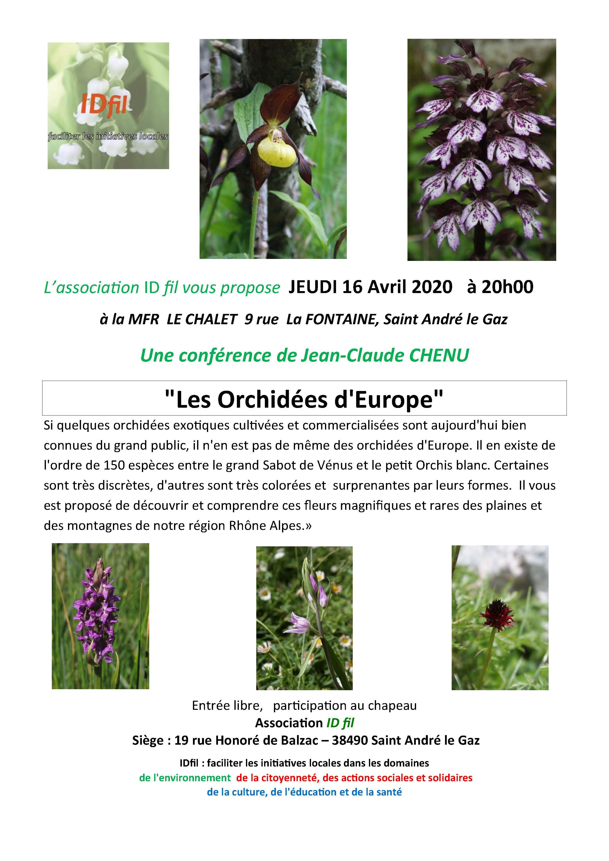 Conférence Les Orchidées dEurope