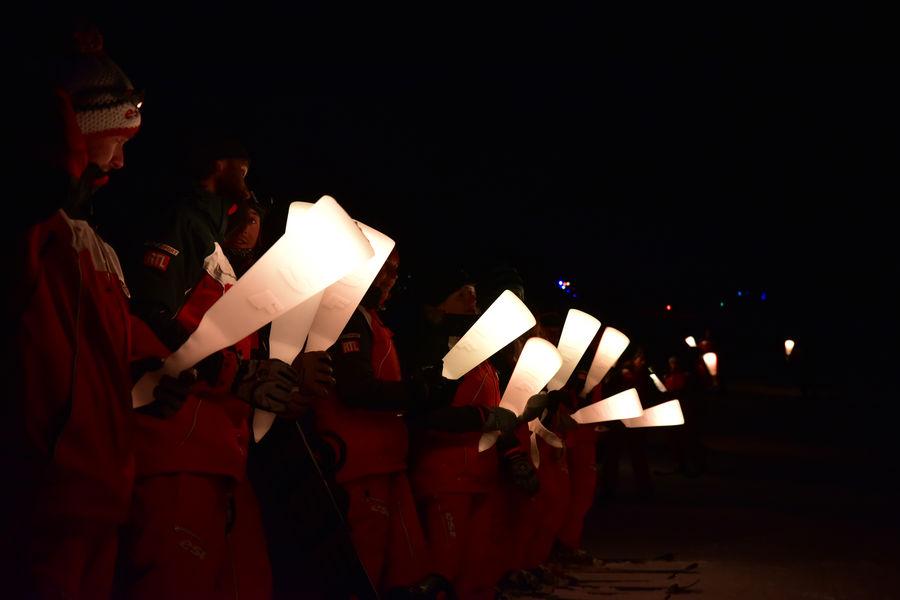 Torchlight parade ESF