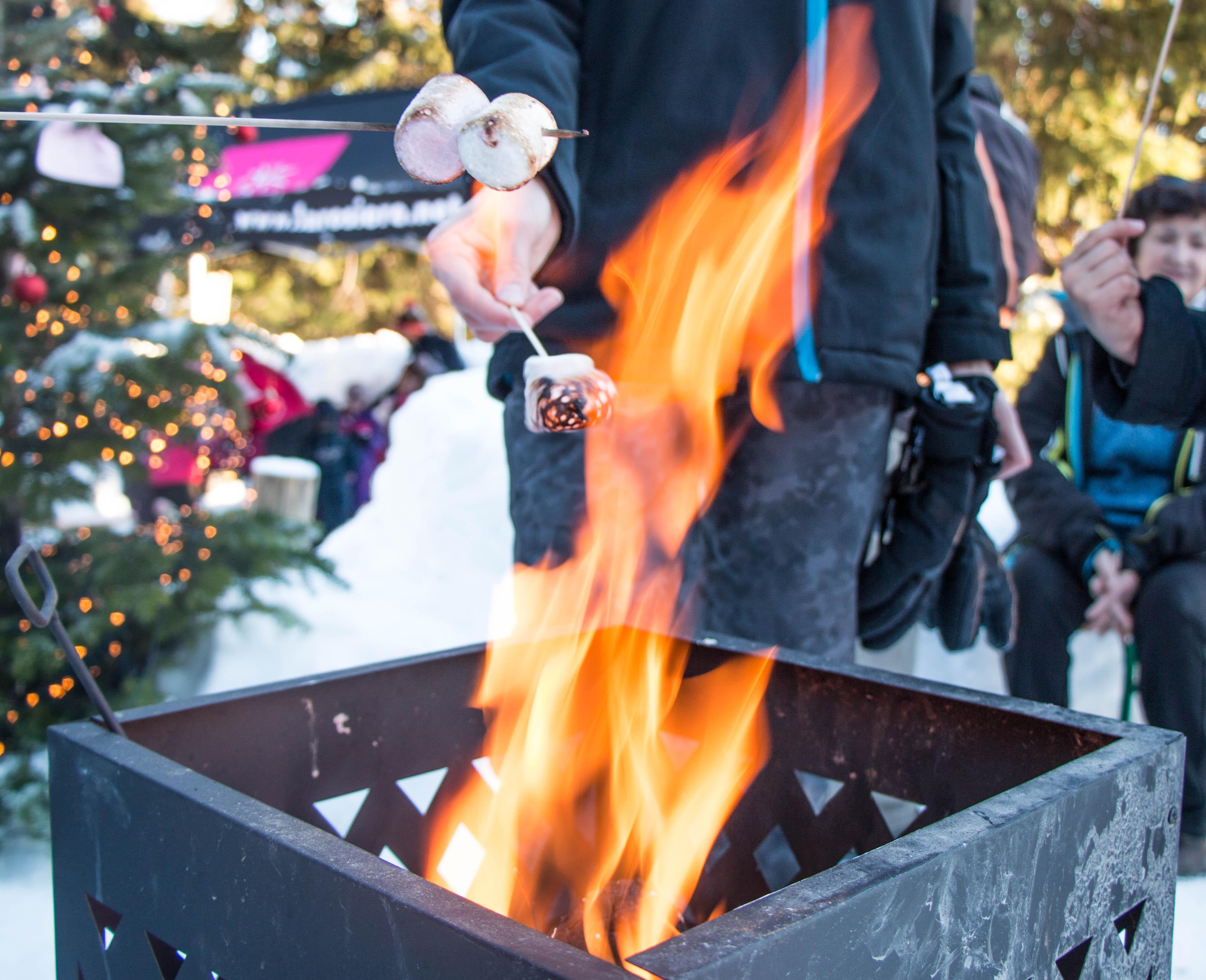 Chamallows grillés Front de neige