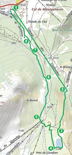 Balades et randonnées de Montgenèvre – Le lac des Anges par le télémix des Chalmettes - Office de Tourisme de Montgenèvre