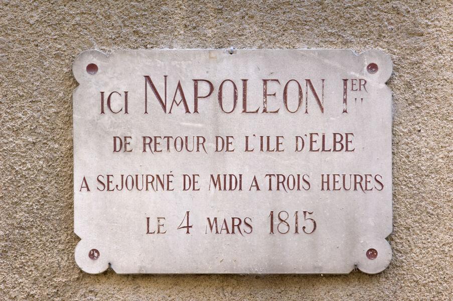 Plaque Napoléon à Digne