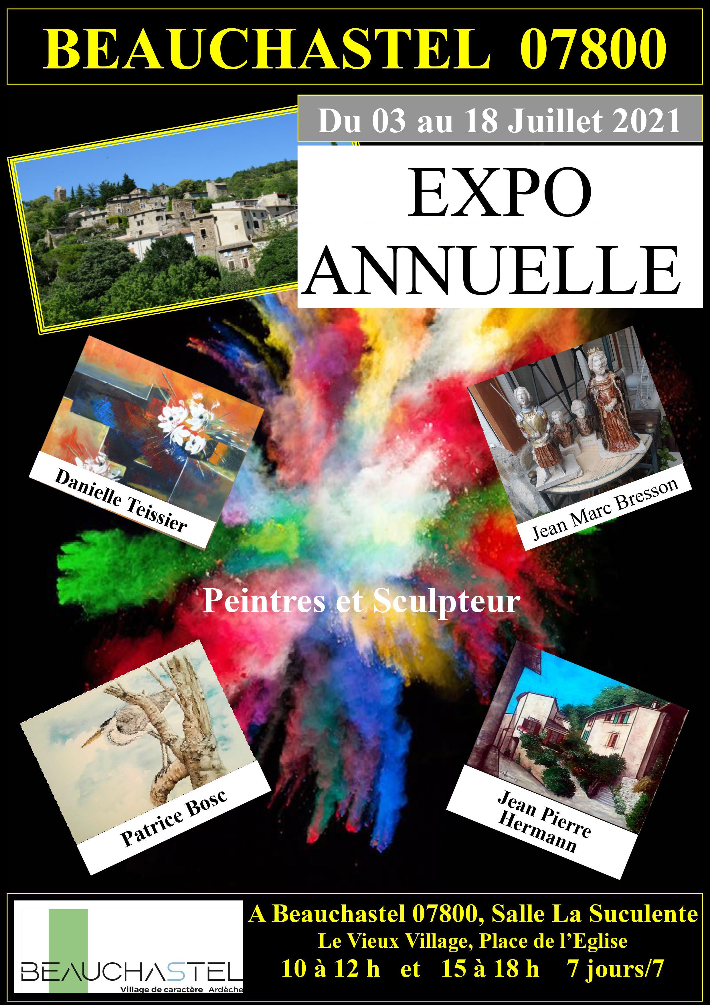 Exposition d'aquarelles / art moderne / peinture architecturale / sculpture