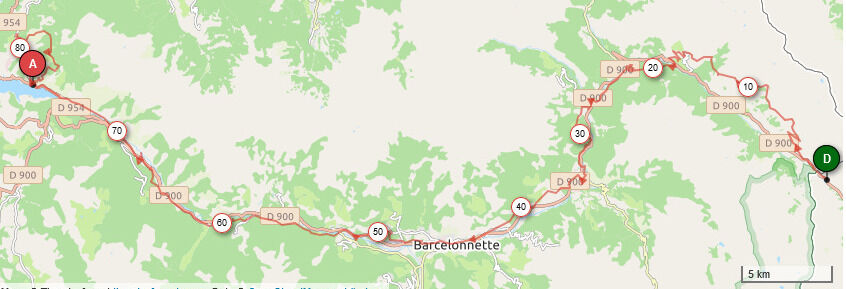 Aventure VTT en Famille sur l'Alpes-Provence - Parcours