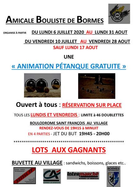 Animation Pétanque
