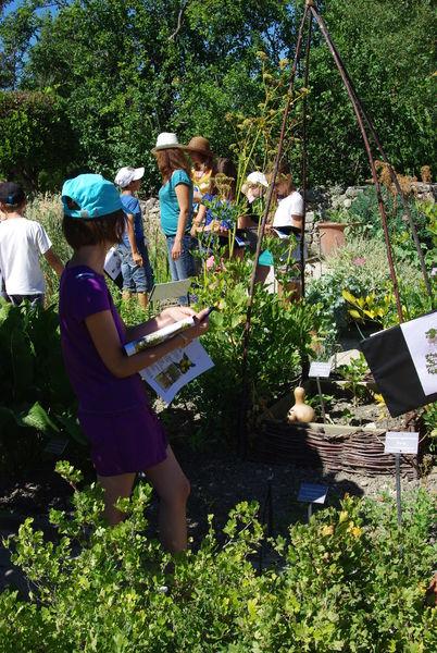 Atelier enfants dans les jardins