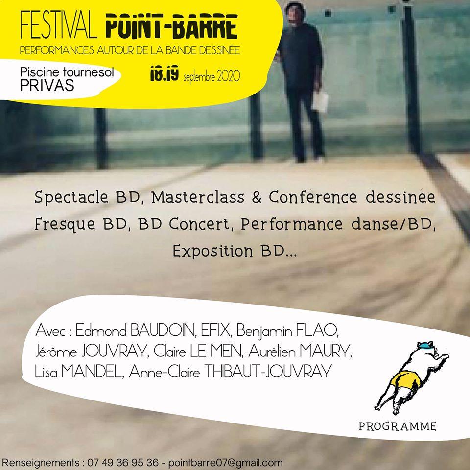 Events…Put it in your diary : Journées Européennes du Patrimoine : Point Barre #1  Festival de  performances autour de la bande dessinée