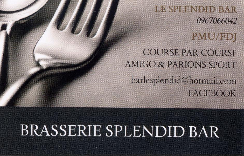 Carte De Visite Le Splendid A Oraison
