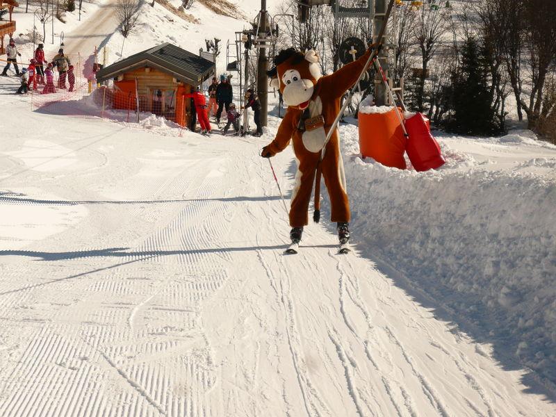 Sorlinette fait du ski