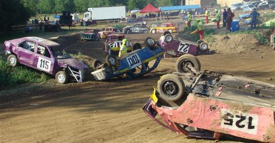 Course de Fun Cars et feux dartifice