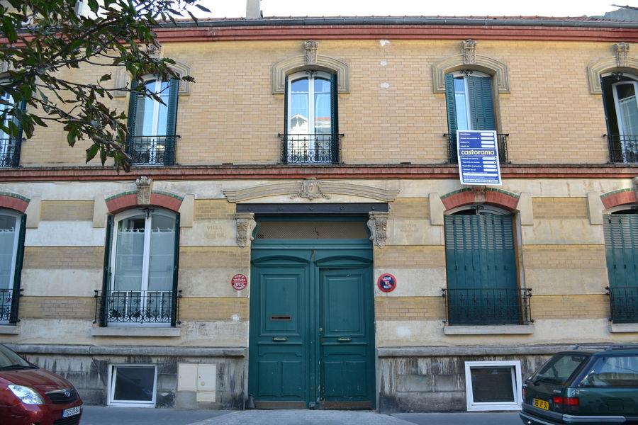 La façade de la Villa Régina - studio