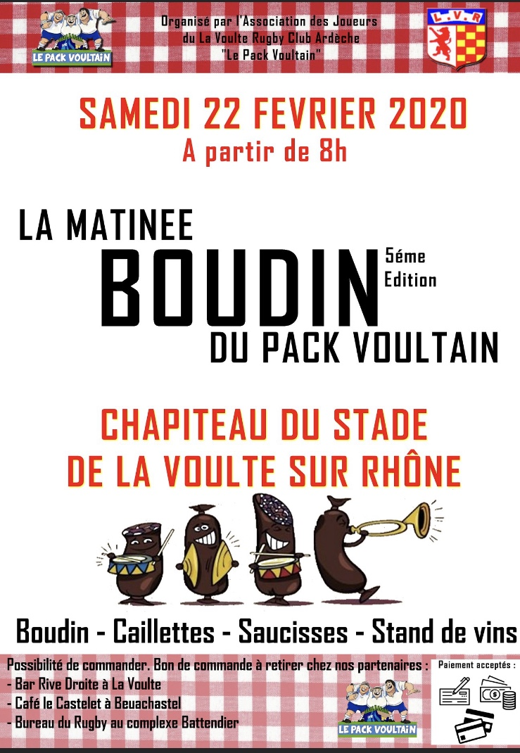 Events…Put it in your diary : Matinée boudin du LVR