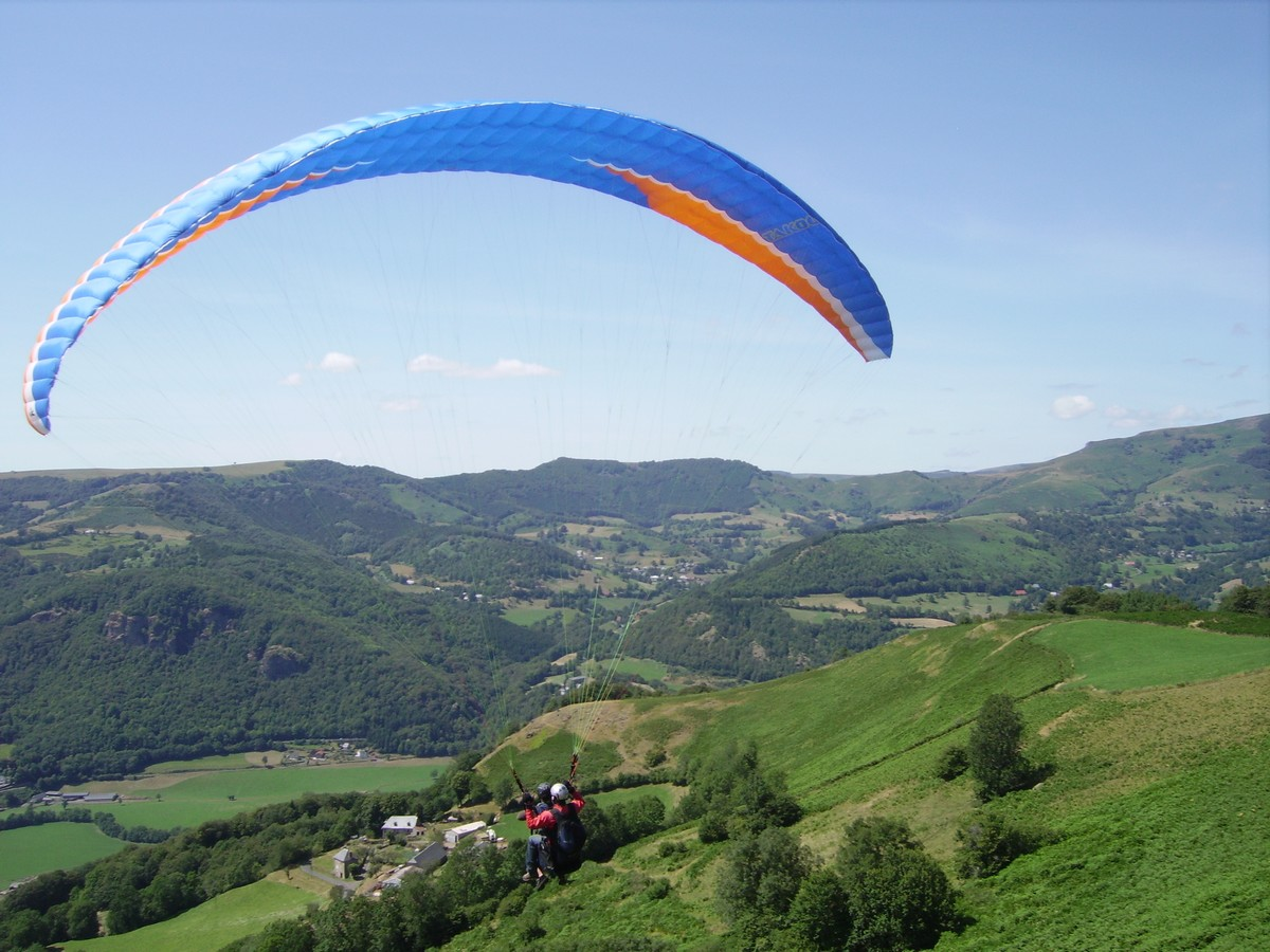 Biplace parapente avec Cantal Air Libre