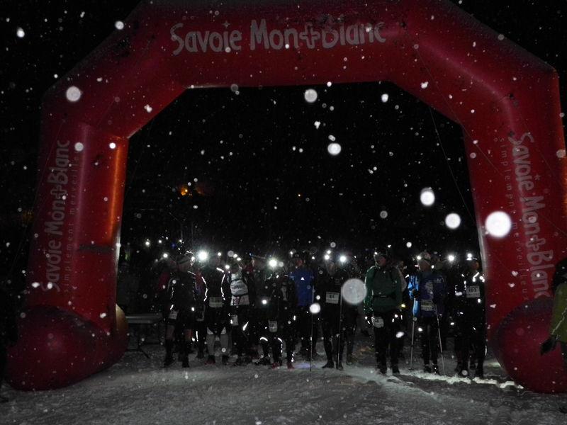 Trail nocturne d\'hiver, le départ