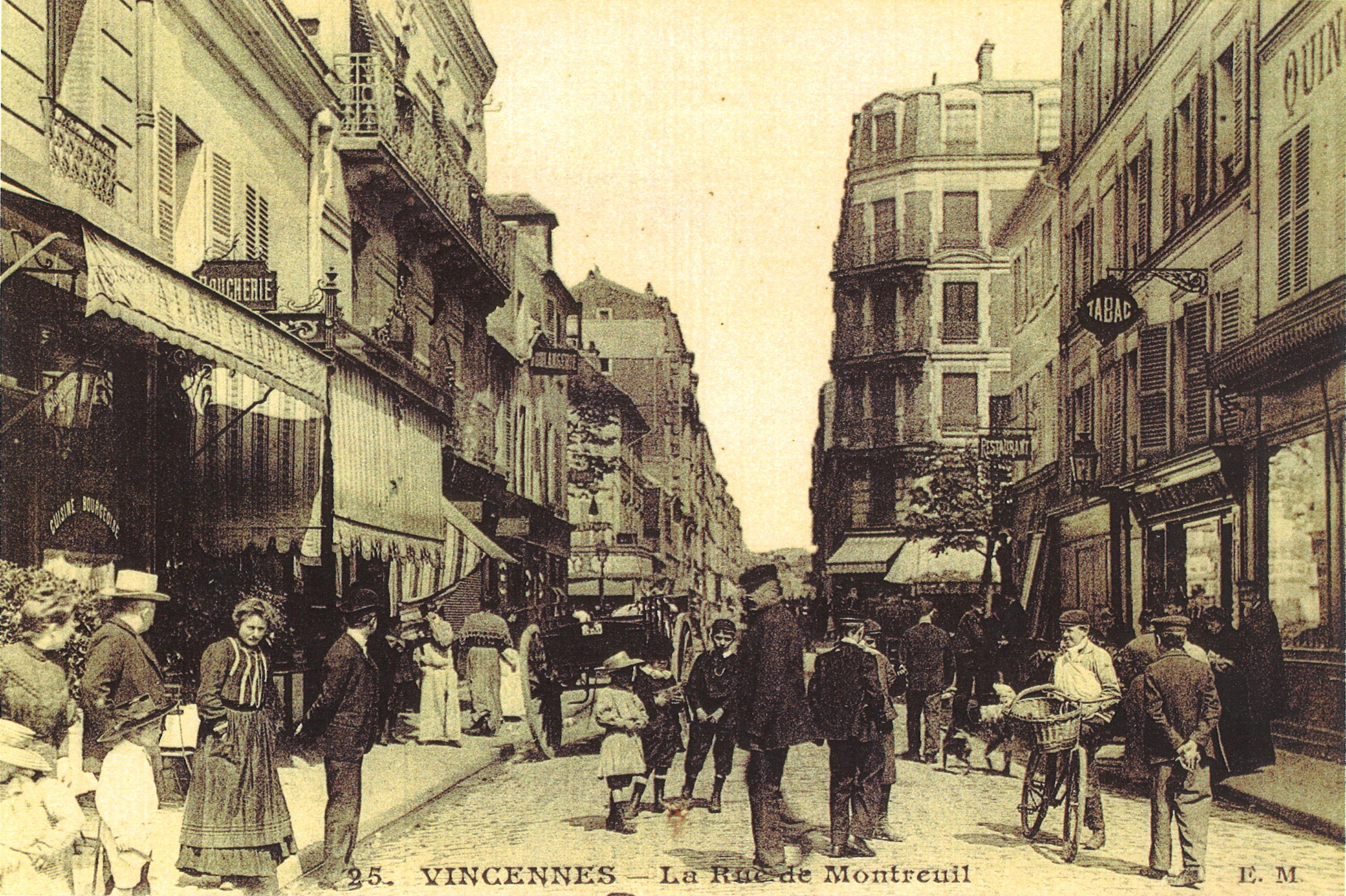 Rue de Montreuil, début du XXe siècle