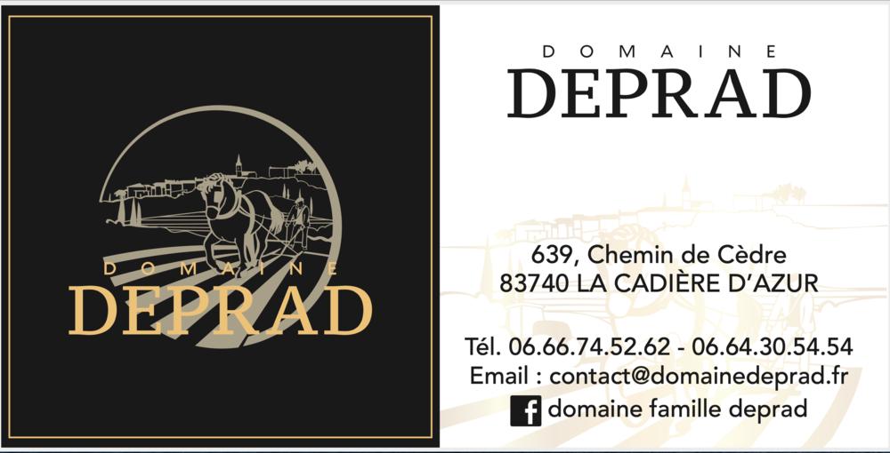 Domaine Famille Deprad - Carte de visite - Rémi Deprad