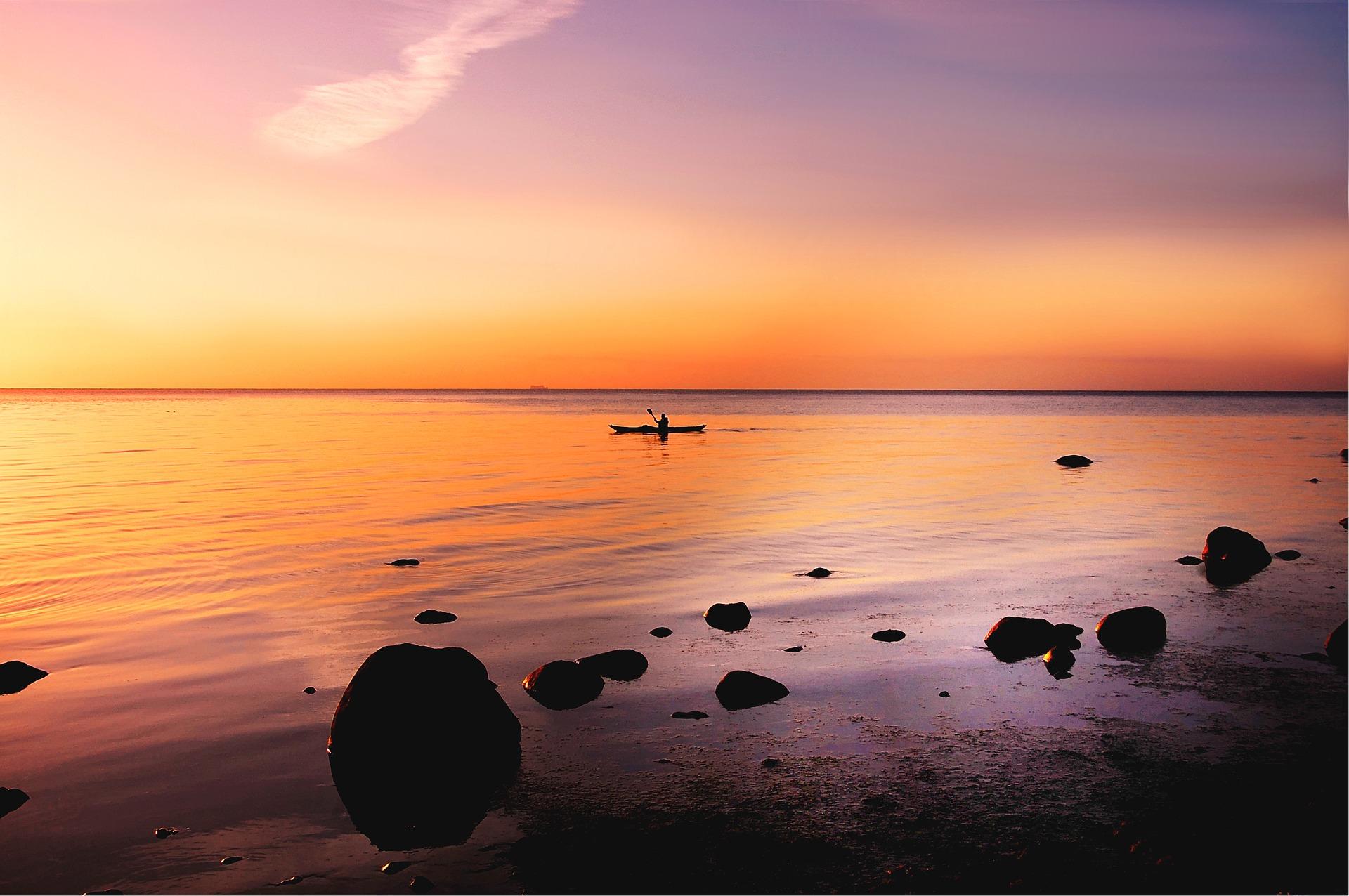 Sortie kayak guidée en plein lune