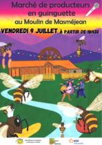 Marché de producteurs en guinguette et concert - Saint-Étienne-de-Lugdarès