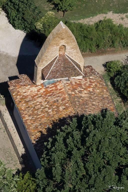 Notre Dame du Moutet vue du ciel