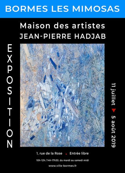 Exposition d'huiles et acryliques grattées - Jean-Pierre Hadjab