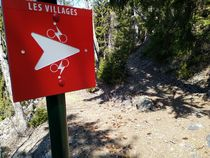 Fléchage sentier Les villages