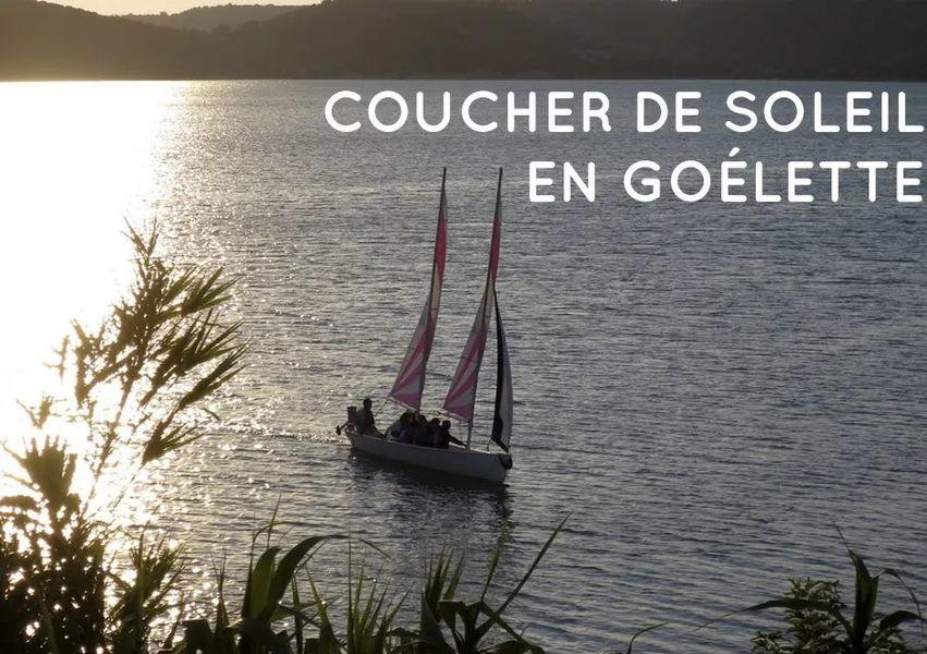Coucher de solei l- goélette - Lac de Sainte Croix du Verdon
