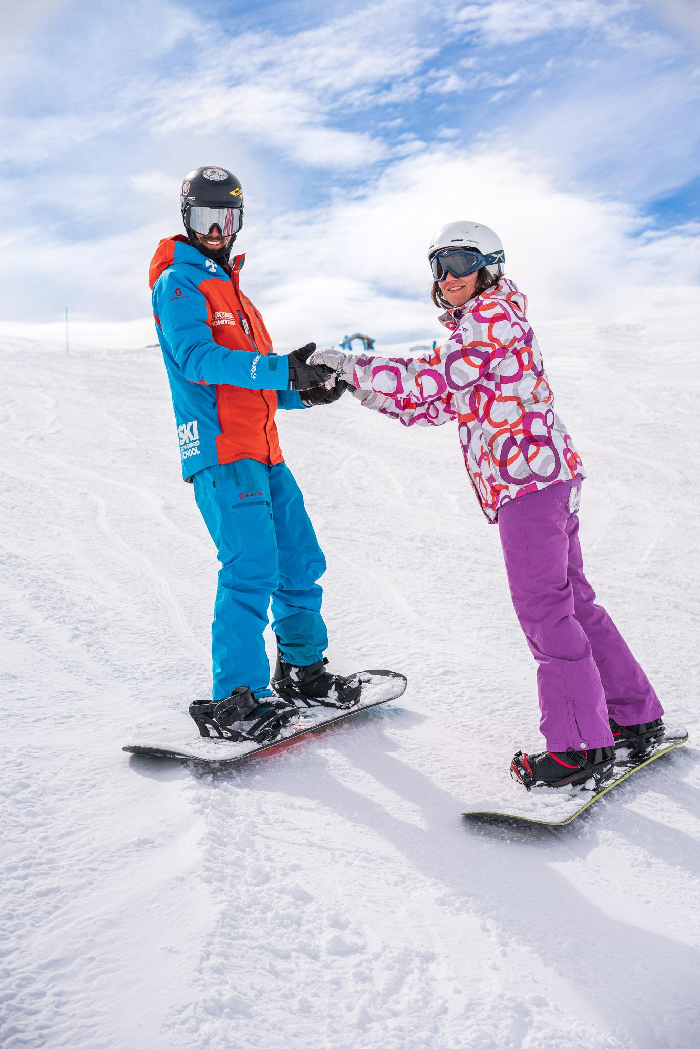 Oxygene snowboard lessons