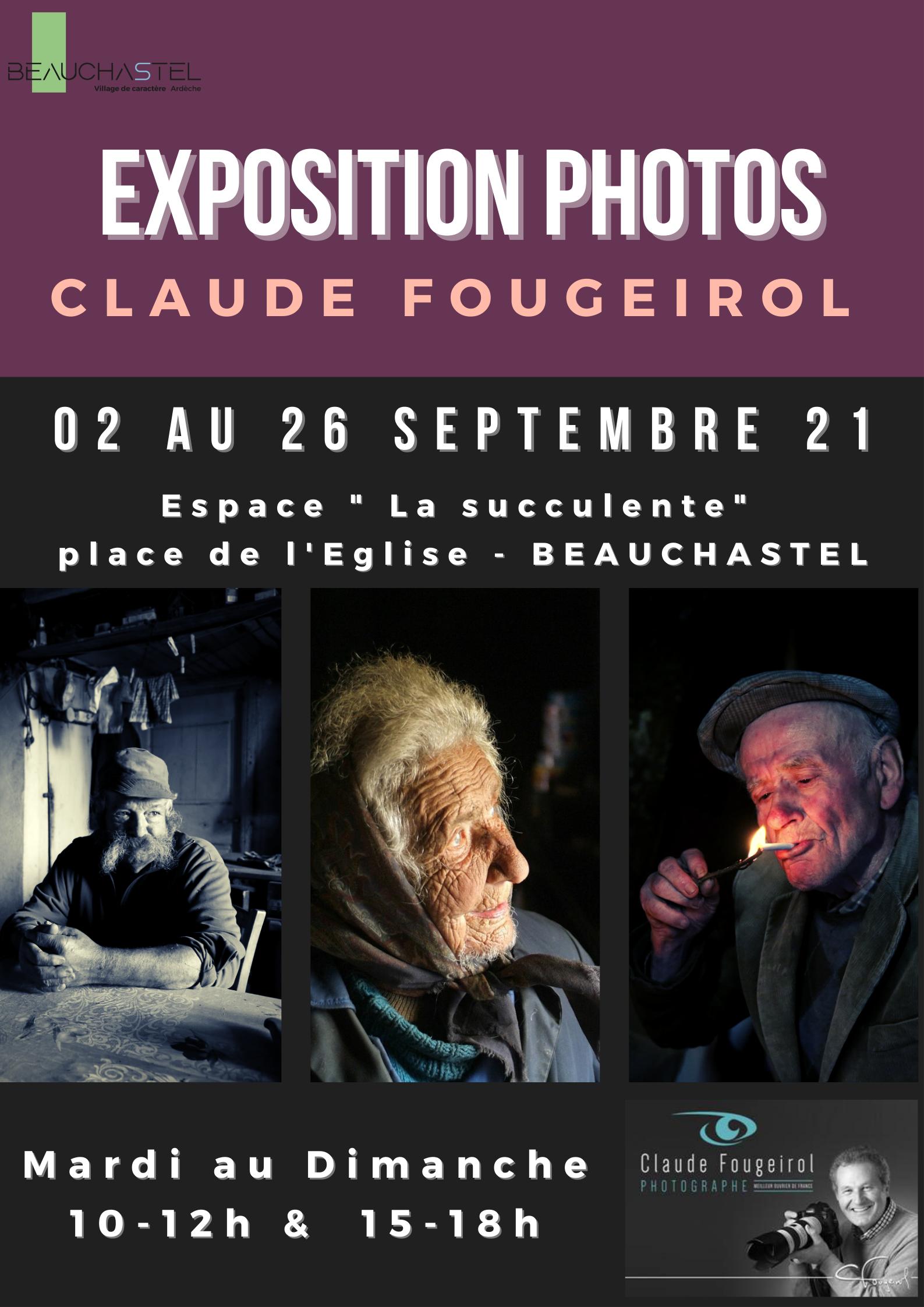 Rendez-vous futés ! : Exposition de photos par Claude Fougeirol