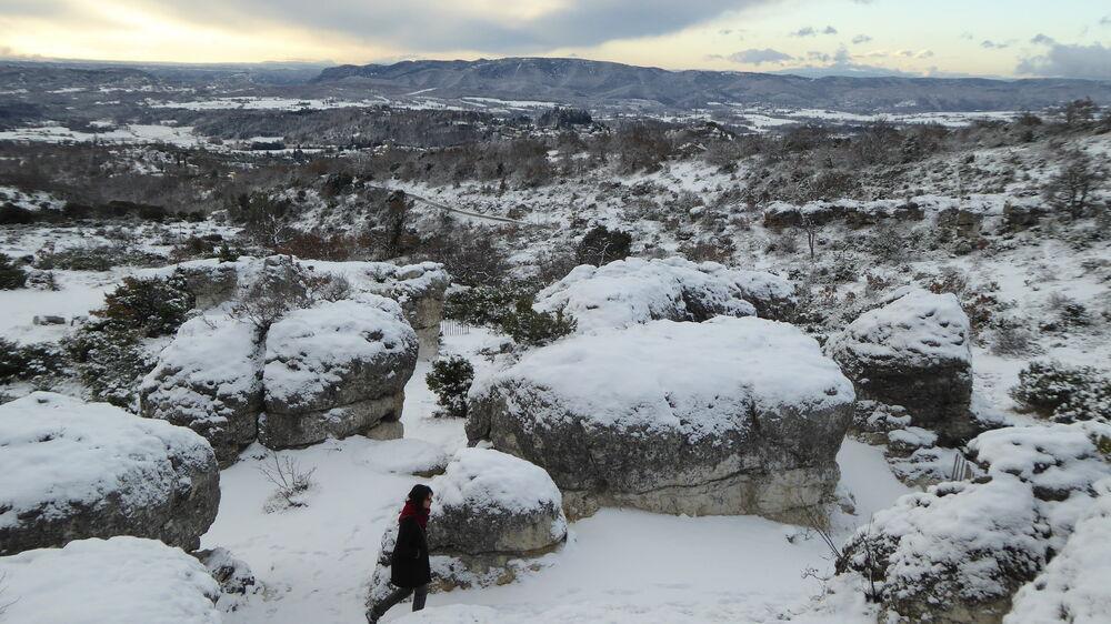 Les Mourres sous la neige