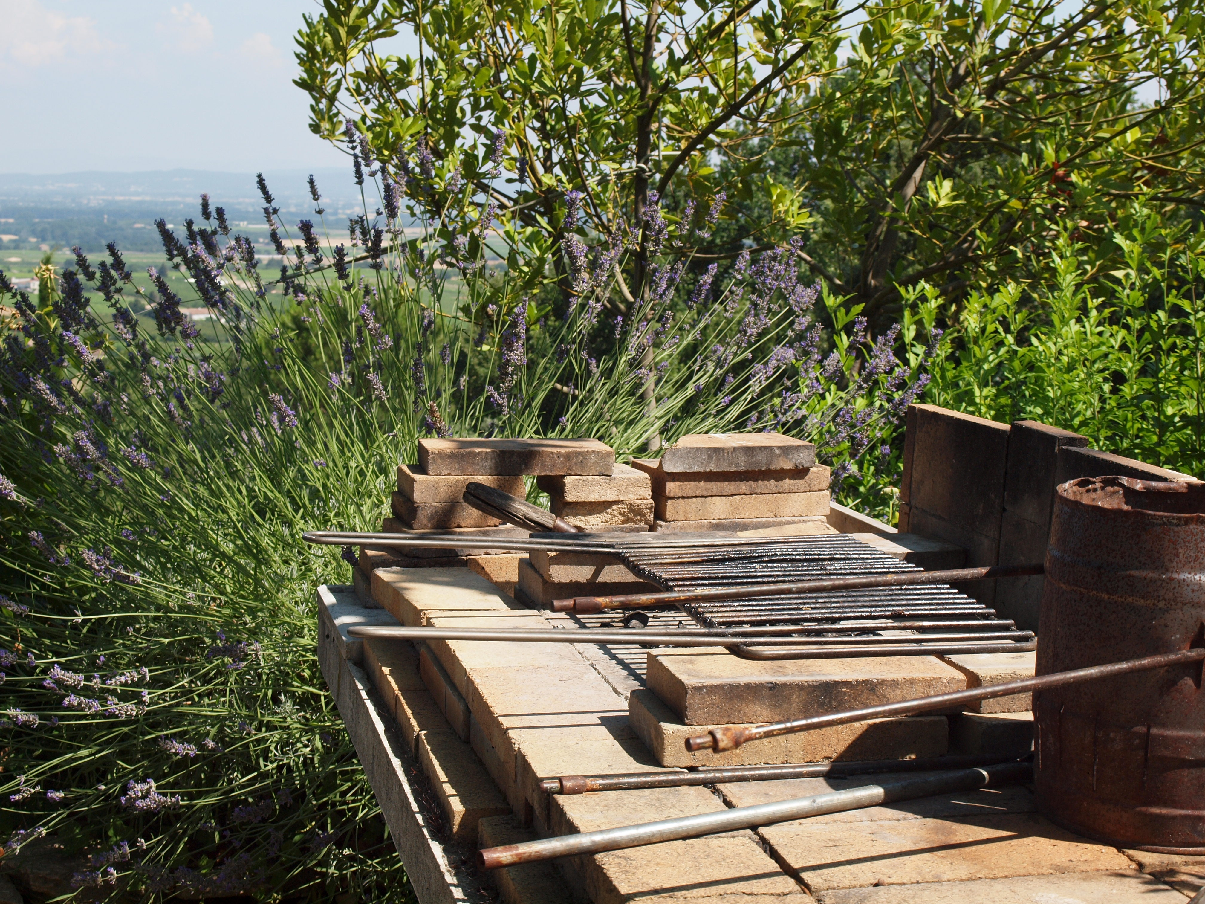 barbecue exterieur nature grillades