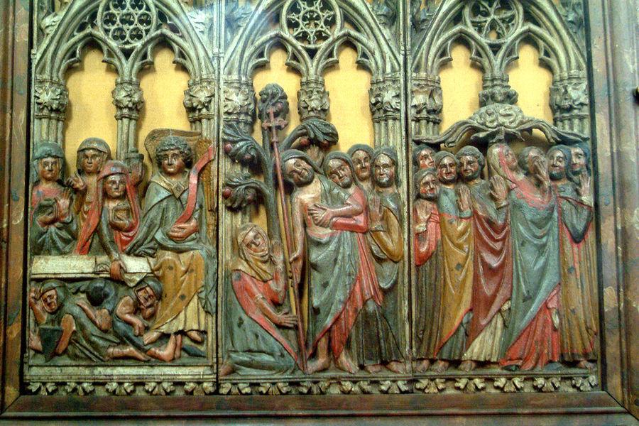 Retable dans l'église Saint Clair de Souppes sur Loing