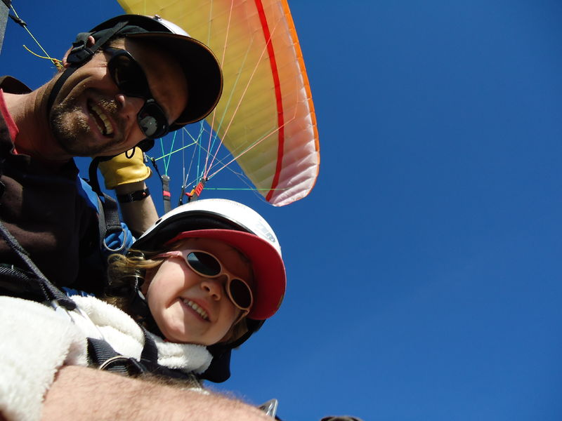 Two-seater paragliding for children