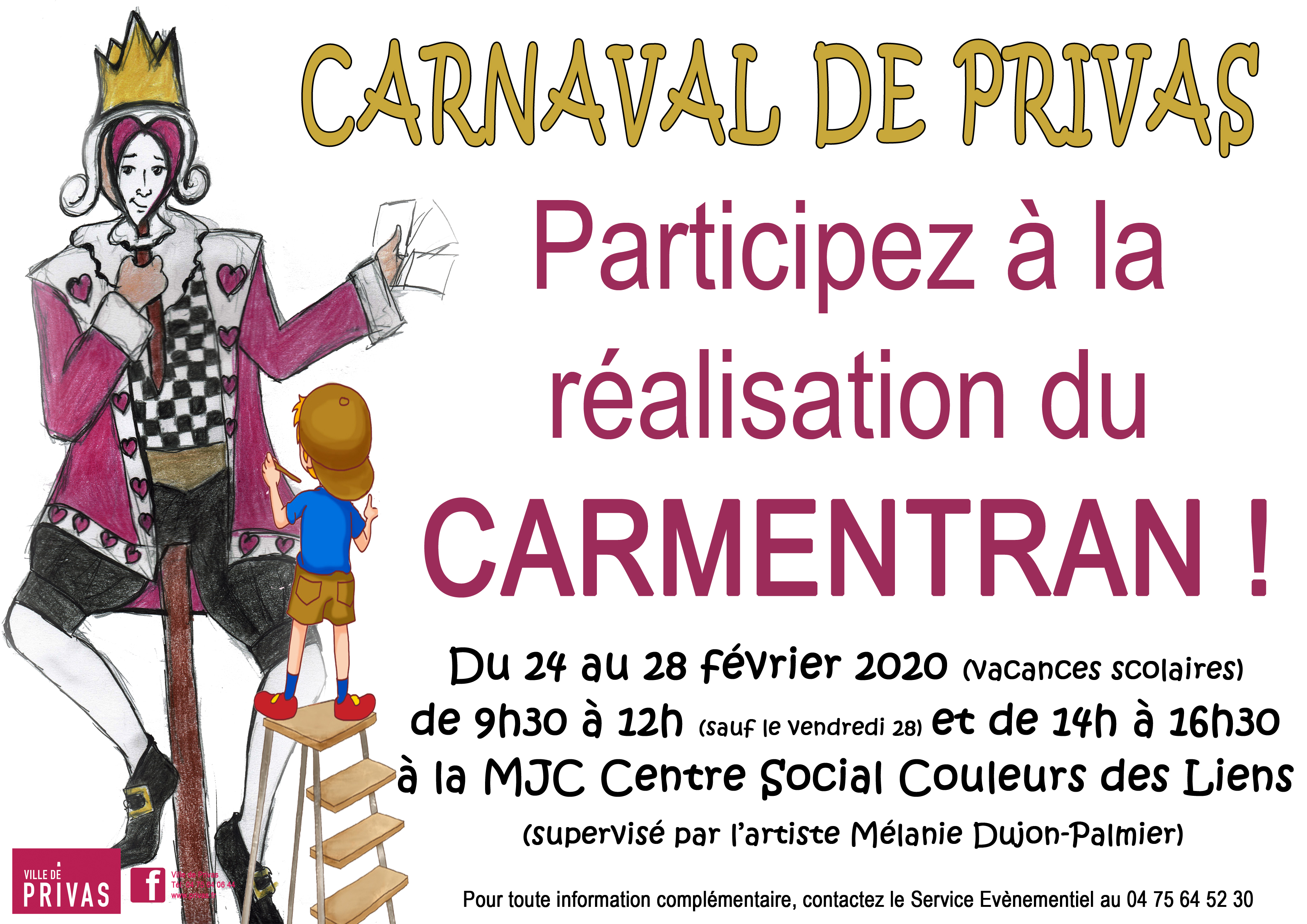 Events…Put it in your diary : Atelier participatif - réalisation de Carmentran