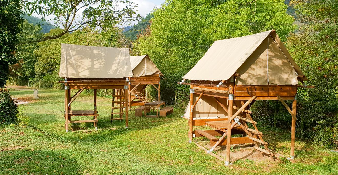 Aparte accommodaties : Bivouac au camping Mas de Champel****