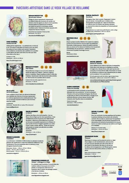Reillanne : PARCOURS ARTISTIQUE 2021 dans le vieux village
