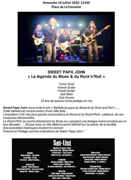Sweet Papa John en concert