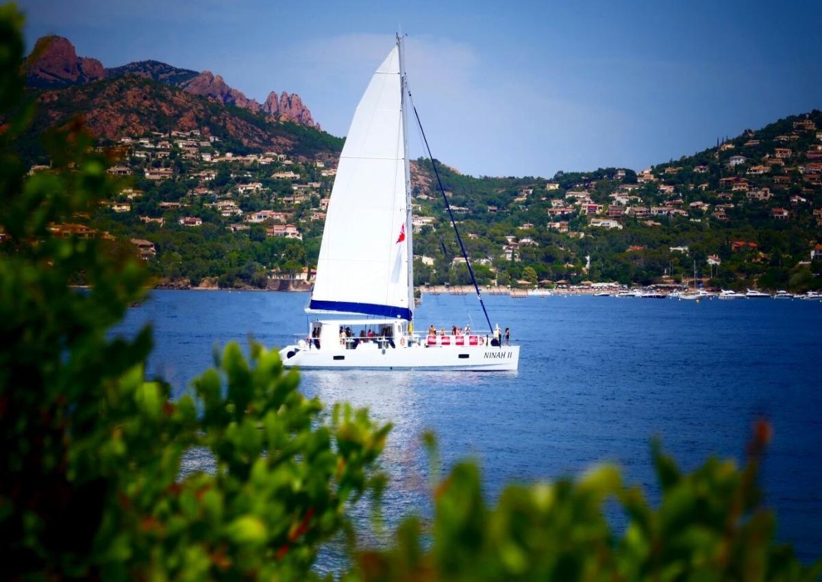 Mer et nature Demijournee Roches rouges en maxi catamaran