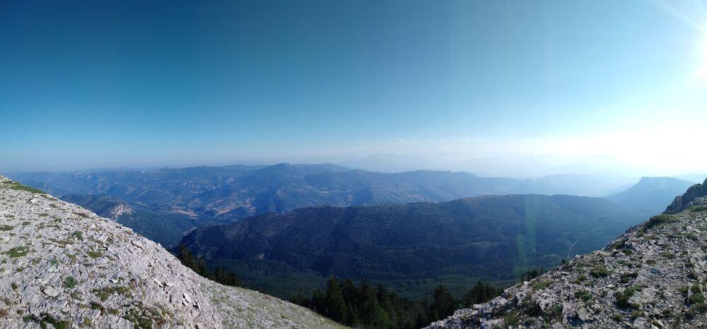 panorama depuis les crètes de Lure