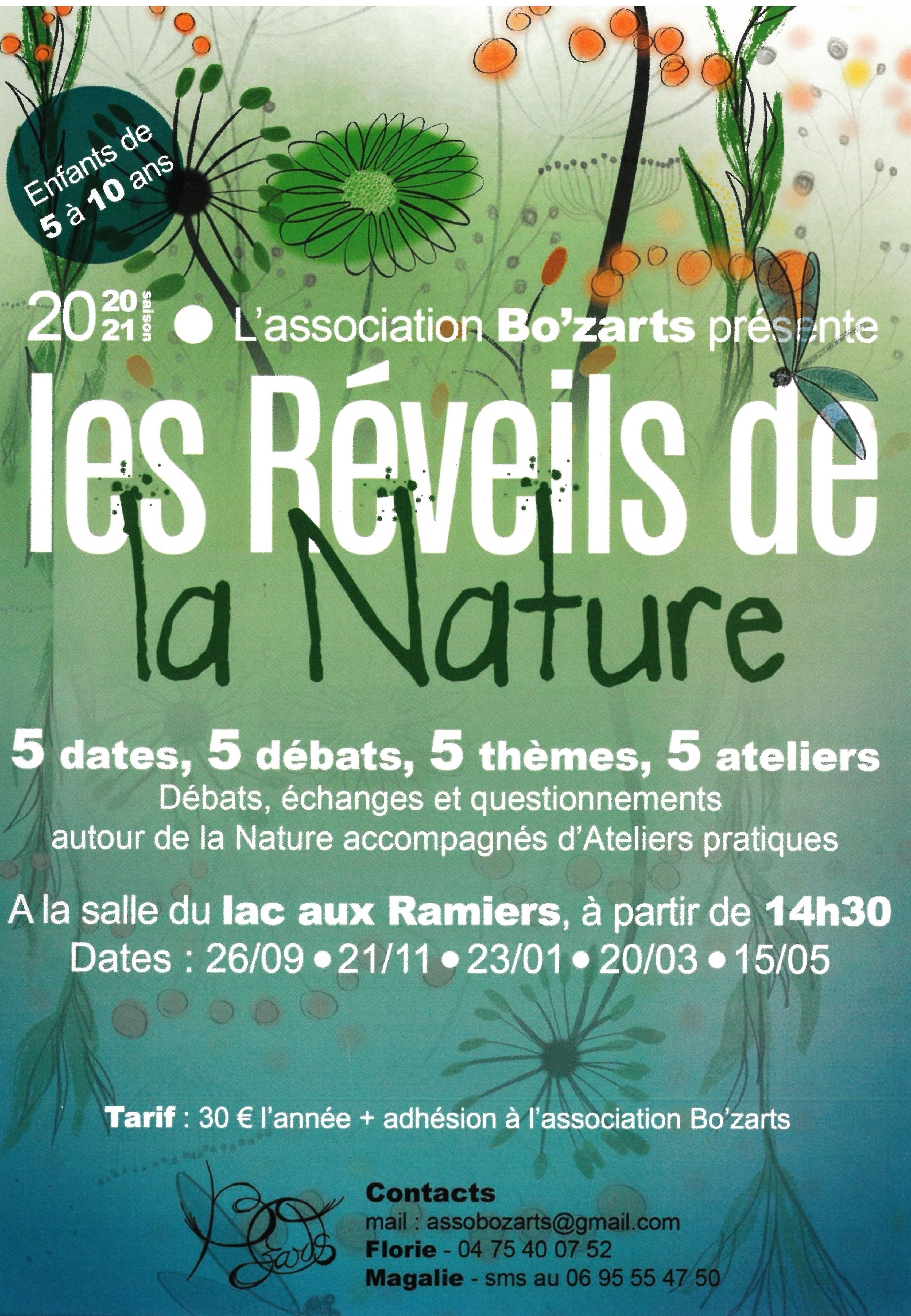 Events…Put it in your diary : Rencontre Les Réveils de la Nature (débat et atelier pratique)