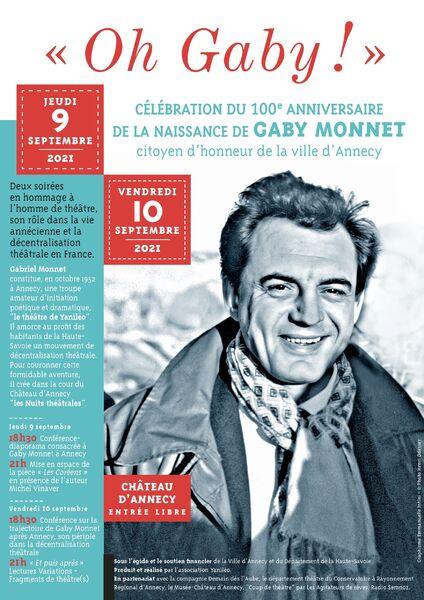 Oh Gaby ! : 100e anniversaire de Gaby Monnet