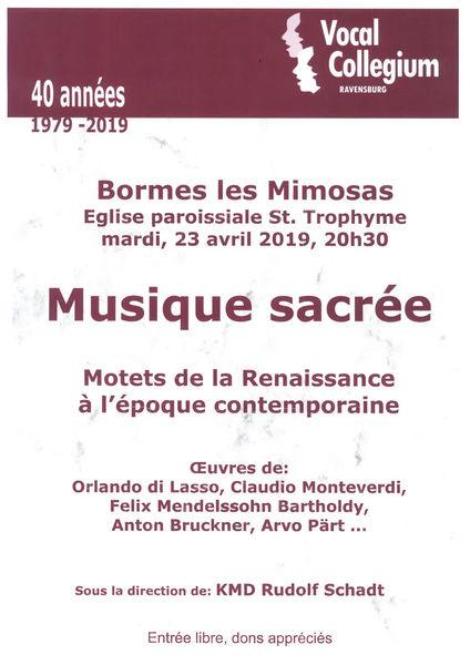 Concert de musique sacrée par Vocal Collegium