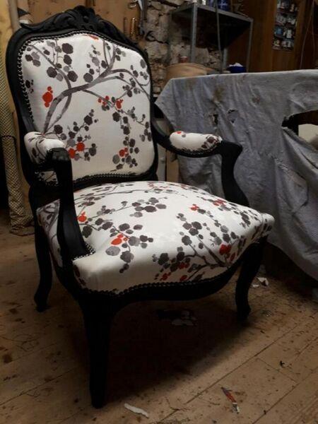 Tapissier F. Clément - Réfection d'un fauteuil - Fédéric Clément