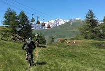 Itinéraires VTT Téléphériques des Glaciers de la Meije - ©AVAG