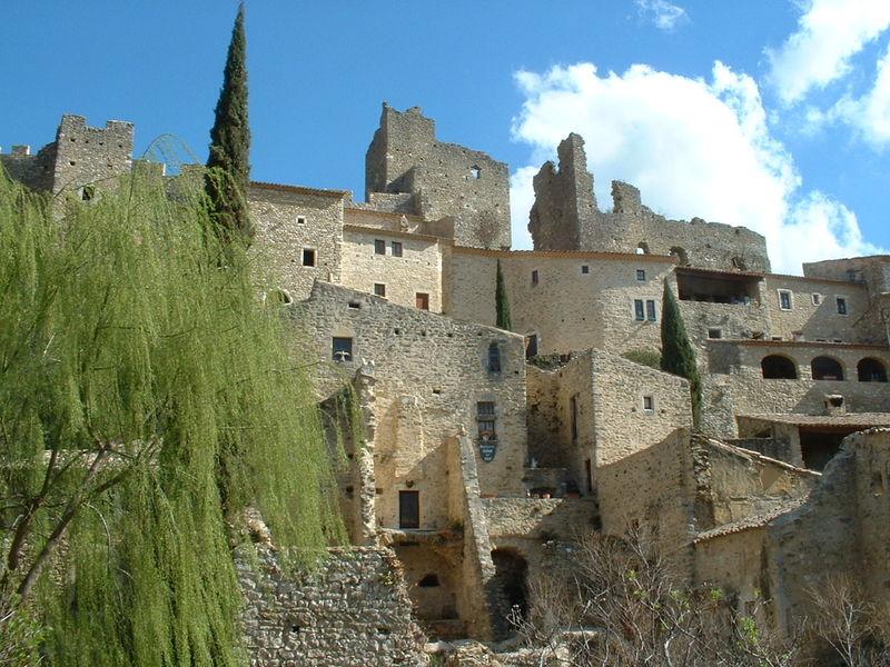 Vue du village de Saint-Montan