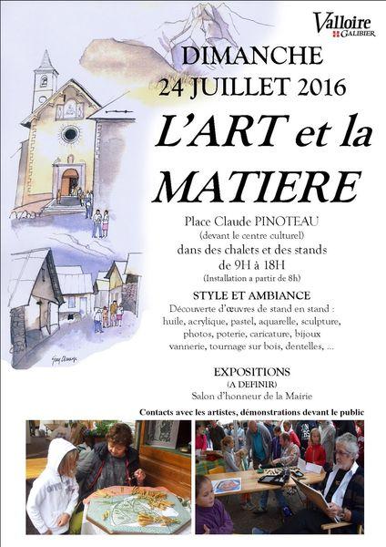 Valloire2016-AFFICHE-artetmatiere