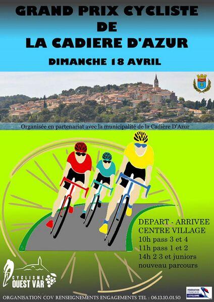 COV - Afficeh Grand Prix Cycliste 2021 - COV