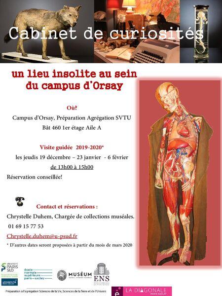 Fermé temporairement - Cabinet de Curiosité du Campus d'Orsay